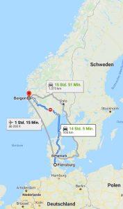 Anreise Google Maps Bergen
