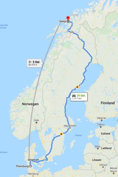 Anreise Google Maps Senja