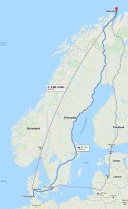 Anreise Google Maps Skarsvag/Nordkap