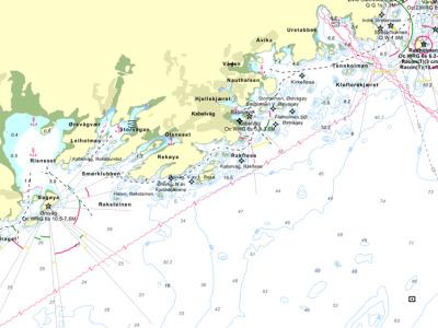 Kabelvag Rorbuer Seekarte