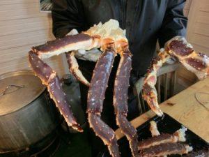 Kamchatkakrabbe vor dem Kochen