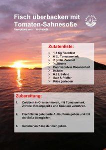 Rezept für Fisch überbacken mit Tomaten-Sahnesauce