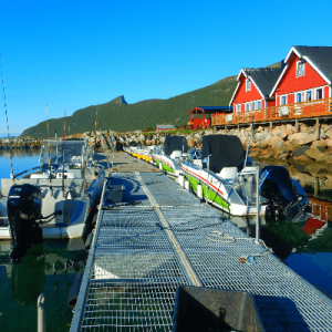 Senja Havfiskesenter alter Bootssteg