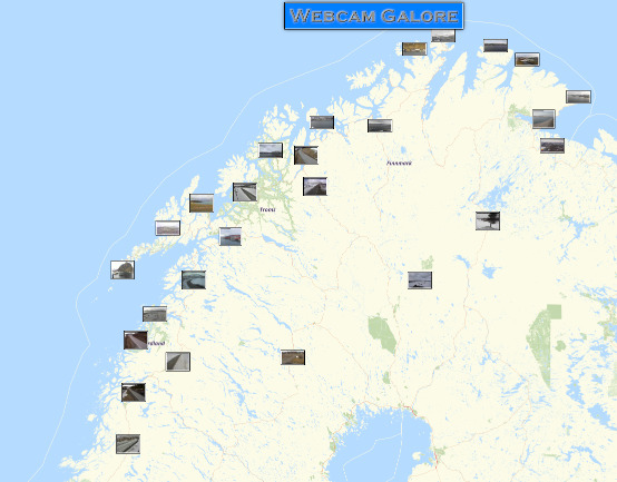Webcam-Karte von Webcam Galore